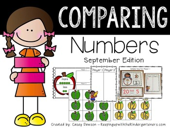 Comparing Numbers September Edition (Common Core and Texas TEKS Aligned)