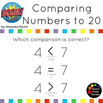 Comparing Numbers Set 1: Greater than/Less than to 20