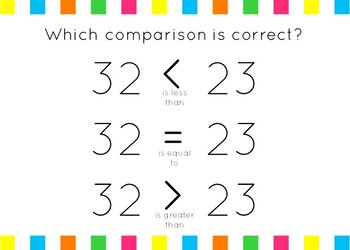 Comparing Numbers Set 2: Greater than/Less than to 50