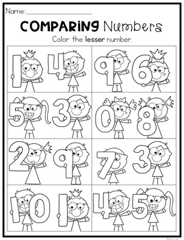 Comparing Numbers & Sets Worksheets
