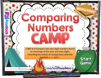 Comparing Numbers Smart Board Game