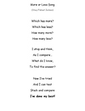 Comparing Numbers Song