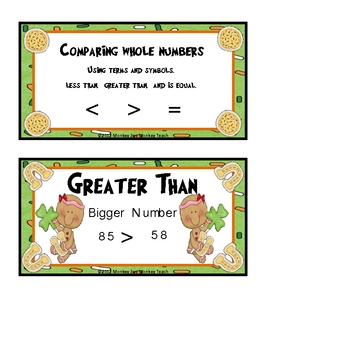 Comparing Numbers St. Patricks Day Gingers  (Theme)
