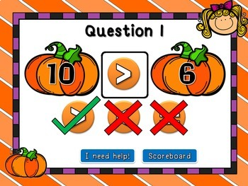 Comparing Numbers - Student vs Student PPT Game - Fall Edition