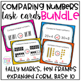 Comparing Numbers Task Cards - BUNDLE!