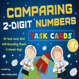 Comparing Numbers Task Cards {Compare 2-Digit Numbers}