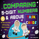 Comparing Numbers Task Cards {Compare 5-Digit Numbers and Above}