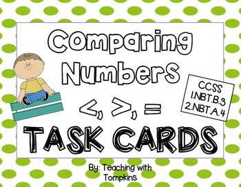 Comparing Numbers Task Cards {greater than, less than}
