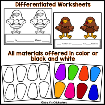 Comparing Numbers: Thanksgiving Turkey Math Craft