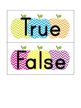 Comparing Numbers True and False