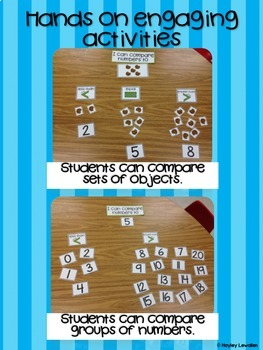 Comparing Numbers Unit and Exit Slips- Resources for 0-10