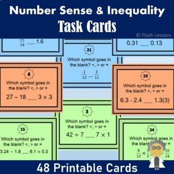 Comparing Numbers Using Inequalities - {Task Cards}