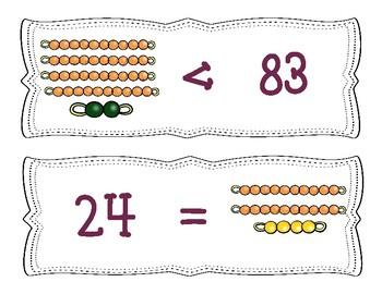 Comparing Numbers Using Montessori Bead Bars