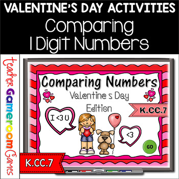 Comparing Numbers - Valentine's Day Edition - Teacher vs S