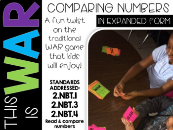 Comparing Numbers | WAR game | Expanded Form Numbers