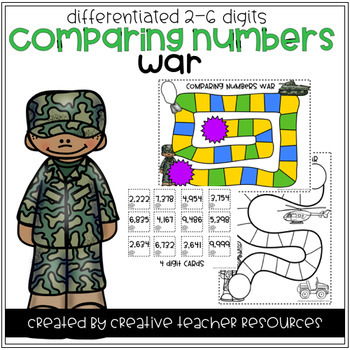 Comparing Numbers War Center Game