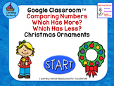 Comparing Numbers  Which Has More? Which Has Less?  Christmas Ornanments