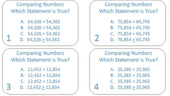 Comparing Numbers, Which Statement is True?