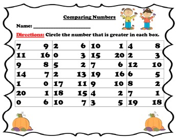 Comparing Numbers. Which set has more?