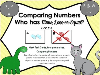 Comparing Numbers Who has More, Less or Equal?