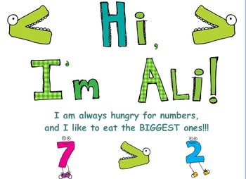 Comparing Numbers With Ali the Aligator
