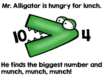 Comparing Numbers With Mr. Alligator