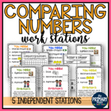 Comparing Numbers Work Stations {includes 5 independent work stations!}