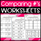 Comparing Numbers Worksheets: Greater than, Less than, Equal to