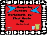 Comparing Numbers Worksheets for First Grade : ( Common Core aligned)