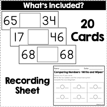 Comparing Numbers Activity (Recording Sheet Included!)
