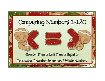 Comparing Numbers  < > and  =  Christmas Theme Gingers