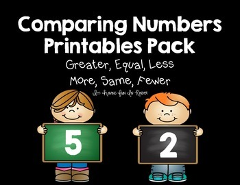 Comparing Numbers and Groups {Greater, Equal, Less, More, Same, Fewer}