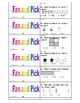 Comparing Numbers and Rounding Numbers Fan and Pick