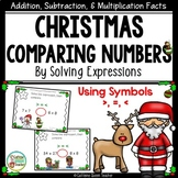 Christmas Multiplication Comparing Greater Than Less Than