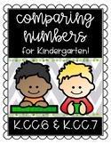 Comparing Numbers for Kindergarten KCC6 KCC7