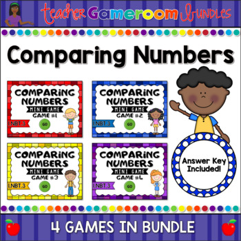 Comparing Numbers from 0 to 100 Mini Game Bundle