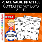 Comparing Numbers from 21 to 40 Cut and Paste Activity