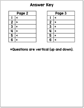 Comparing Numbers from 41 to 60 Cut and Paste Activity