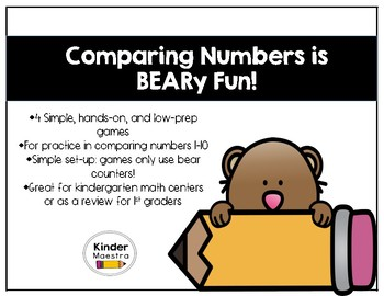 """Comparing Numbers is """"BEARy"""" Fun!"""