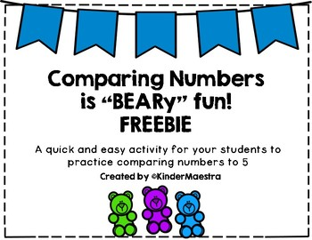 Comparing Numbers is BEARy Fun! FREEBIE