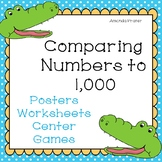 Comparing Numbers to 1,000: Greater Than, Less Than, and Equal Alligators