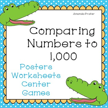 Greater Than Less Than Worksheets With Alligator Teaching Resources ...