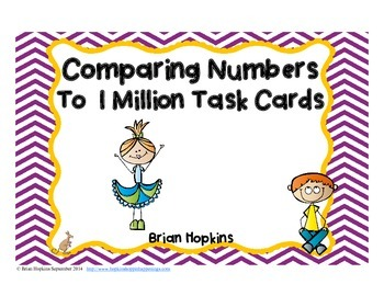 Comparing Numbers to 1 Million Task Cards