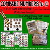 Comparing Numbers to 10 (Christmas Version)