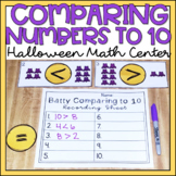 Comparing Numbers to 10 Halloween Math Center Kindergarten
