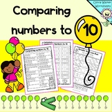 Comparing Numbers to 10 (greater than, less than)