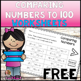 Comparing Numbers to 100 First Grade FREE | Distance Learning