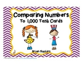 Comparing Numbers to 1,000 Task Cards