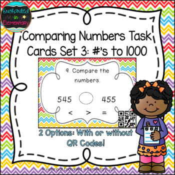 Comparing Numbers to 1000 Task Cards: 2nd Gr CC: Number &
