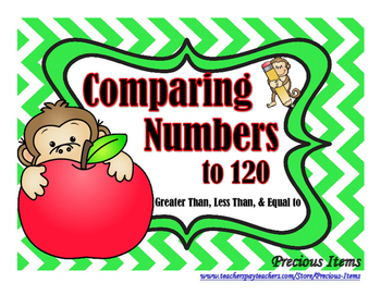 Comparing Numbers to 120 Activity Cards